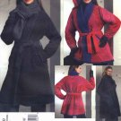 Vogue Sewing Pattern 1070 Misses Size 4-14 Koos Van Den Akker Reversible Coat Scarf Hat Belt