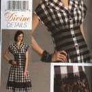 Vogue Sewing Pattern 8353 Misses Size 6-8-10 Easy Button Front Flared Dress Seaming Details