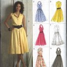 Vogue Sewing Pattern 8383 Misses Size 6-8-10-12 Easy Button Front Sleeveless Halter Neck Dress