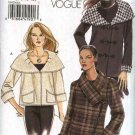 Vogue Sewing Pattern 8429 Misses Size 6-8-10-12 Eacy Lined Cropped Hip Length Jacket Spring Fall