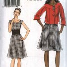 Vogue Sewing Pattern 8472 Misses Size 18-24 Easy Sleeveless Dress Button Front Cropped Jacket