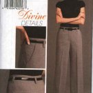 Vogue Sewing Pattern 8479 Misses Size 14-22 Semi-Fitted Slightly Flared Long Pants Cuffed Hem