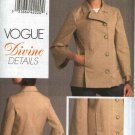 Vogue Sewing Pattern 8480 Misses Size 6-8-10-12 Easy Button Front Back Peplum Unlined Jacket