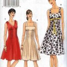 Vogue Sewing Pattern 8488 Misses Size 6-12 Easy Raised Empire Waist Sleeveless Summer Dress