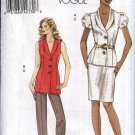 Vogue Sewing Pattern 8563 Misses Size 14-22 Easy Wardrobe Straight Skirt Pants Lined Jacket Vest