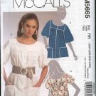 McCall's Sewing Pattern 5665 Misses Size 8-16 Loose Fitting Button Front Top Shirt Smock