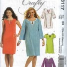 McCall's Sewing Pattern 6117 Womans Plus Size 18W-24W Pullover A-Line Crafty Dress Caftan Kurda