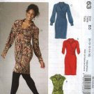 McCall's Sewing Pattern 6163 Misses Size 8-16 Knit Dress Sash Sleeve Variations
