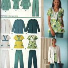 Simplicity Sewing Pattern 3542 Womans Plus Size 20W-28W Easy Scrub Uniform Top Pants Jacket