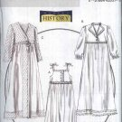 Butterick Sewing Pattern 5544 Misses Size 4-14 Nightgown Robe Slippers Historical Costume