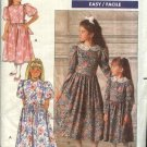 Butterick Sewing Pattern 4405 Girls Size 7-10 Easy Classic Full Skirted Dress Bow Tie Sleeve Options