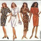 Butterick Sewing Pattern 6787 Misses Size 6-8-10 Easy Classic Straight Dress Mock Wrap Skirt
