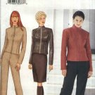Butterick Sewing Pattern 6792 Misses Size 12-14-16 Zipper Front Lined Jacket Straight Skirt Pants