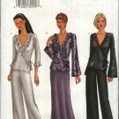 Butterick Sewing Pattern 6823 Misses Size 14-16-18 Easy Front Wrap Top Overlayed Long Skirt Pants