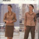 Butterick Sewing Pattern 6829 Misses Size 20-22-24 Straight Skirt Long Pants Blouse Top Zipper Front
