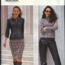 Butterick Sewing Pattern 6830 Misses Size 18-20-22 Easy Leather Jacket Pants Knit Top Skirt