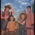 Butterick Sewing Pattern 6852 Boys Girls Size 4-14 Cowboys Cowgirls Indian Brave Maiden Costume