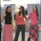 Butterick Sewing Pattern 6833 Misses Size 8-10-12 Easy A-Line Asymmetrical Hem Skirt  Pants
