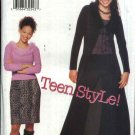 Butterick Sewing Pattern 6840 Junior Sizes 1/2-7/8 Knit Wardrobe Duster Pullover Top Skirt Pants