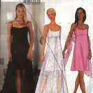 Butterick Sewing Pattern 6860 Misses Size 12-16 Easy Arianna Formal Prom Straight Dress Overskirt
