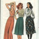 Butterick Sewing Pattern 6897 Misses Size 8-10-12 Classic Inverted  Pleat Flared A-Line Skirts