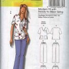 Butterick Sewing Pattern 5301 Women's Plus Size 18W-44W Easy Uniform Scrub Top Pants Nurse