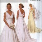 Butterick Sewing Pattern 5462 Misses Size 16-22 Easy Lined Wedding Bridal Gown Dress Cut On Train