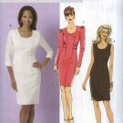 Butterick Sewing Pattern 5519 Misses Size 16-22 Easy Fitted Lined Straight Dress Sleeve Options