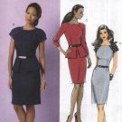 Butterick Sewing Pattern 5520 Misses Size 8-14 Easy Lined Tapered Dress Raglan Sleeves Peplum