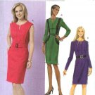 Butterick Sewing Pattern 5521 Misses Size 6-12 Easy Lined Straight Princess Seam Dress Belt