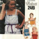 Vogue Sewing Pattern 2419 Girls Size 8 Suntops FOUR Summer Sleeveless Tops