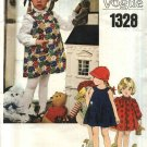 Vogue Sewing Pattern 1328 Girls Size 6 Long Sleeve Front Button Blouse Dress Pullover Jumper