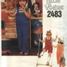 Vogue Sewing Pattern 2483 Girls Size 6X Long short Jumpsuit Overalls
