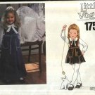 Vogue Sewing Pattern 1751 Girls Size 5 Long Short Jumper Long Sleeve Button Front Blouse