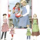 Simplicity Sewing Pattern 3949 Mother Daughter Misses Girls  Butcher Full Heart Bodice Aprons