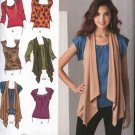 Simplicity Sewing Pattern 2283 Misses Size 14-22 Knit Tops Vest Sleeve Neckline Options