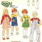 Butterick Sewing Pattern 5874 Boys Girls Size 3 Long Short Overalls Jumper Applique Stuffed Goose