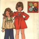 Butterick Sewing Pattern 4039 Girls Size 4 Raised Waist Appliqued Dress Top Long Pants