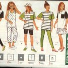 Butterick Sewing Pattern 4886 Girls Size 7-8-10 Easy Knit Wardrobe Top Skirt Shorts Leggings Pants