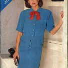 Butterick Sewing Pattern 5506 Misses Size 8-12 Easy Straight Skirt Button Front Top Two-Piece Dress