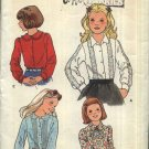 Butterick Sewing Pattern 5689 Girls Size 12 Classic Long Sleeve Button Front Blouse Shirt Top