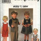 Simplicity Sewing Pattern 7729 Boys Girls Size 1/2-1-2 Easy Appliqued Jumper Jumpsuit Romper