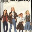 Simplicity Sewing Pattern 8563 Girls size 12-14 Wardrobe Circle Skirt Long Pants Vest Shirt