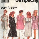 Simplicity Sewing Pattern 8871 Misses Size 6-16 Easy Baby Doll Raised Waist Dress Broomstick