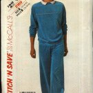 McCall's Sewing Pattern 2169 Misses Size 12-14-16 Knit Sweatsuit Sweatshirt Sweatpants Top Pants
