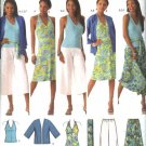 Simplicity Sewing Pattern 4193 Womens Plus Size 20W-28W Easy  Wardrobe Halter Dress Top Skirt