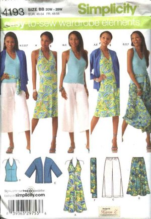 Simplicity 4264 - Girl's tops/gauchos - Sewing classes, patterns