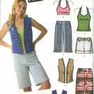 Simplicity Sewing Pattern 4200 Junior Plus Size 15/16 - 25/26+ Summer Wardrobe Top Shorts Vest