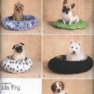 Simplicity Sewing Pattern 2297 All Size Fleece Dog Cat Beds in Two Styles Three Sizes