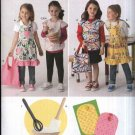 Simplicity Sewing Pattern 2295 Girl's Size 3-8 Craft Cooking Aprons Potholders Totebags Play Toys